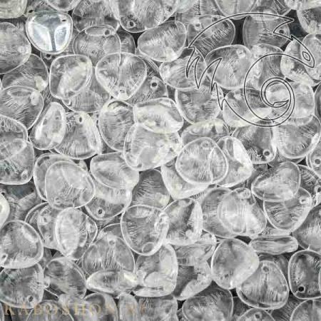 Стеклянные чешские бусины Rose Petal 8х7 мм Crystal (10 шт)