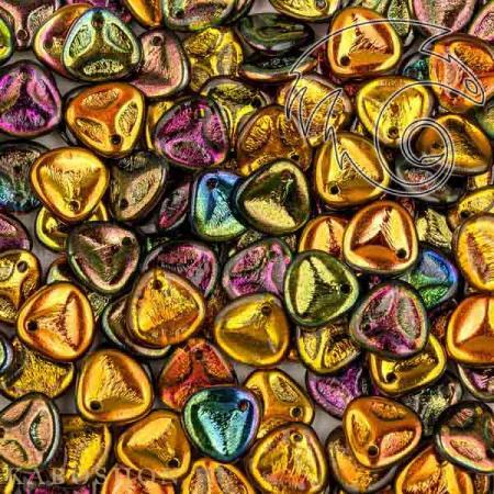 Стеклянные чешские бусины Rose Petal 8х7 мм Crystal Magic Copper (10 шт)