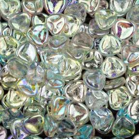 Rose Petal 8х7 мм Crystal Green Rainbow (10 шт)