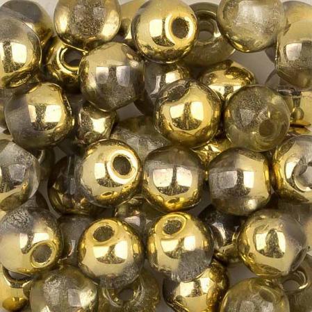 Round beads 3 мм Crystal Amber
