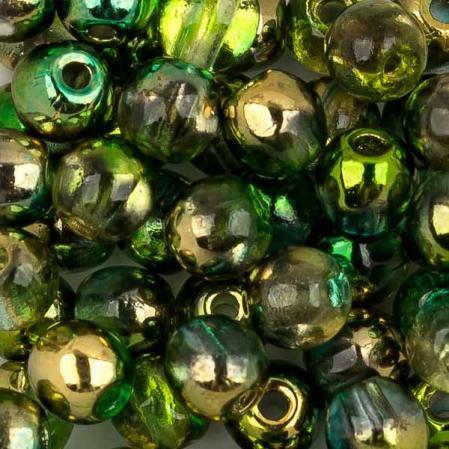 Round Beads 3 мм Crystal Sunny Magic Summer Green