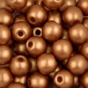 Round Beads 3 мм Alabaster Metallic Copper