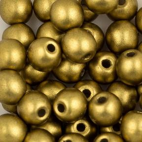 Round Beads 3 мм Alabaster Metallic Olivine
