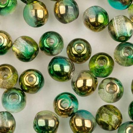 Round Beads 4 мм Crystal Sunny Magic Summer Green