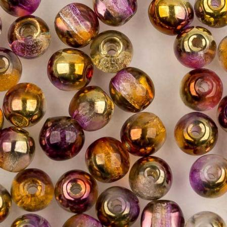 Round Beads 4 мм Crystal Sunny Magic Ember