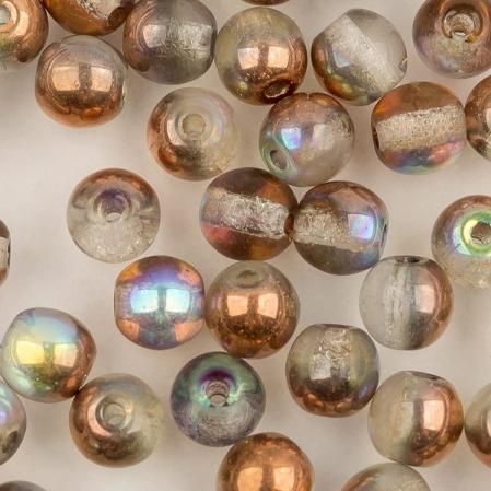 Round beads 4 мм Crystal Copper Rainbow