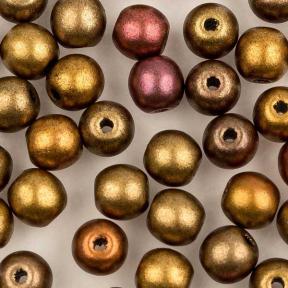 Round beads 4 мм Ancient Gold