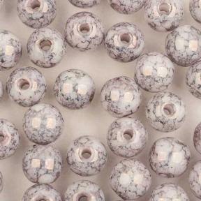 Round beads 4 мм Chalk White Teracota Copper