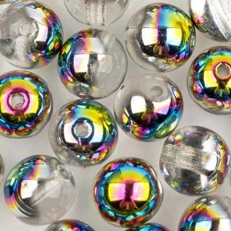 Round beads 6 мм Crystal Vitrail