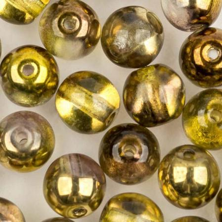 Round Beads 6 мм Crystal Sunny Magic Gold