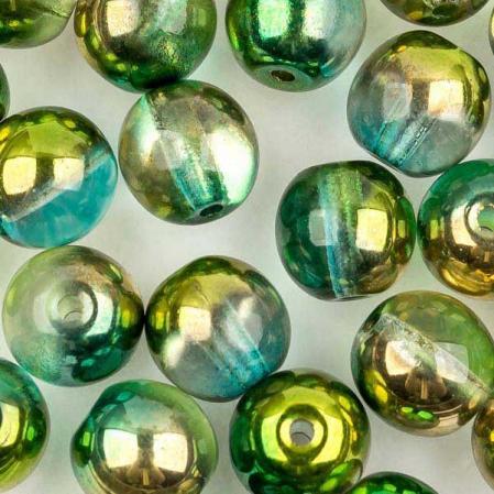 Round Beads 6 мм Crystal Sunny Magic Summer Green