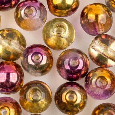 Round Beads 6 мм Crystal Sunny Magic Ember