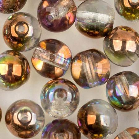 Round beads 6 мм Crystal Copper Rainbow