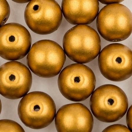 Round beads 6 мм Brass Gold