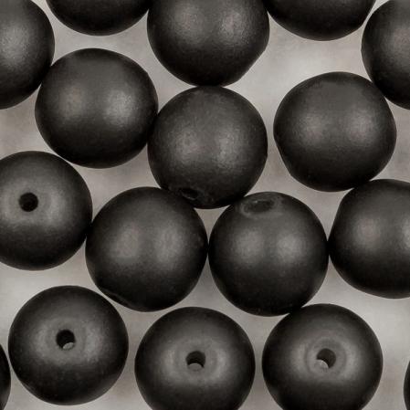 Round Beads 6 мм Alabaster Metallic Black