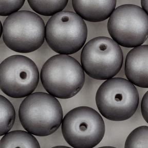 Round Beads 6 мм Alabaster Metallic Steel