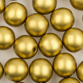 Round Beads 6 мм Alabaster Metallic Olivine