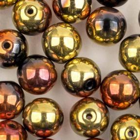 Round beads 6 мм Jet California Gold Rush