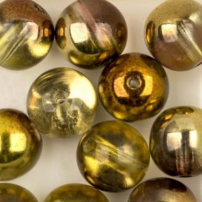 Round Beads 8 мм Crystal Sunny Magic Gold (10 шт)