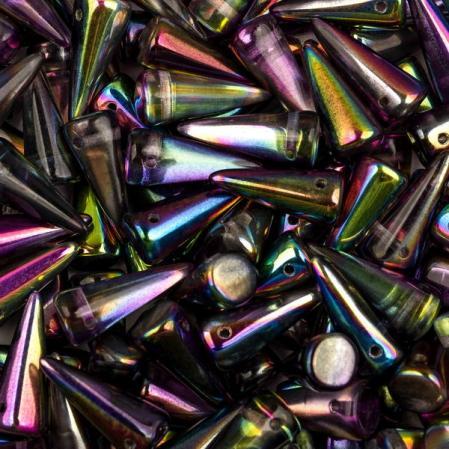 Spike 7х17 мм Crystal Magic Purple (5 шт)