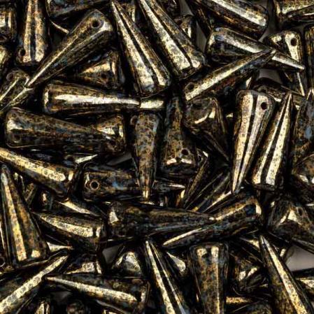 Spike 7х17 мм Jet Lila Gold Luster (5 шт)