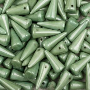 Spike 7х17 мм Chalk White Green Luster (5 шт)