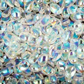 Tulip Petals 6х8 мм Crystal AB (10 шт)