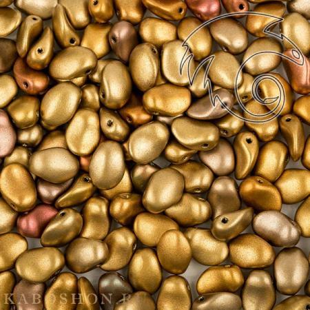 Стеклянные чешские бусины Tulip Petals 6х8 мм Metallic Mix