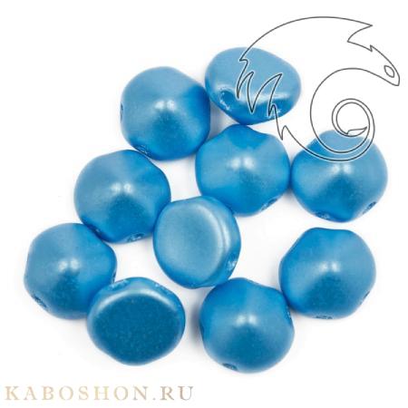 Стеклянные чешские бусины Tipp Beads 8 мм Alabaster Pastel Turquoise