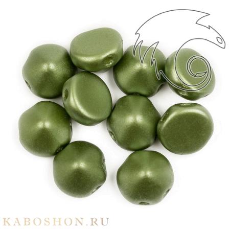 Стеклянные чешские бусины Tipp Beads 8 мм Alabaster Pastel Olivine
