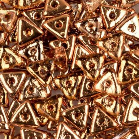 Tri-bead 4 мм Crystal Capri Gold