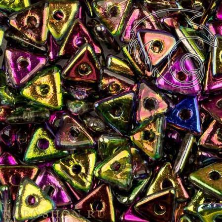 Стеклянные чешские бусины Tri-bead 4 мм Crystal Magic Orchid