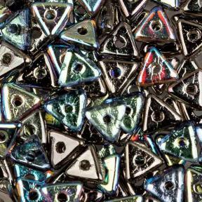 Tri-bead 4 мм Crystal Graphite Rainbow