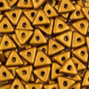 Tri-bead 4 мм Brass Gold