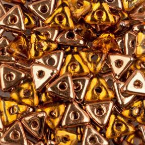 Tri-bead 4 мм Topaz Capri Gold