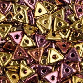 Tri-bead 4 мм Jet California Pink