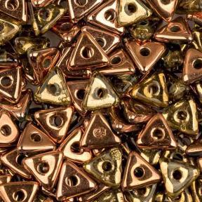 Tri-bead 4 мм Peridot Capri Gold