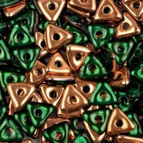 Tri-bead 4 мм Emerald Capri Gold