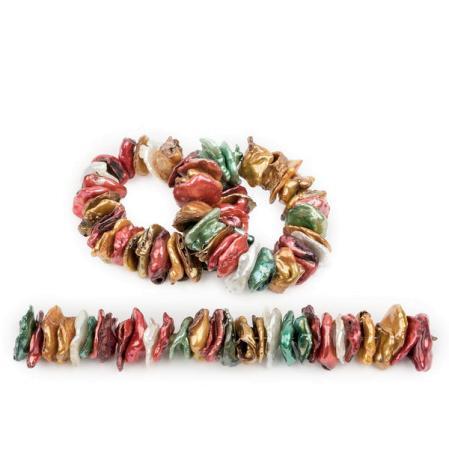 Жемчуг Biwa микс разных цветов