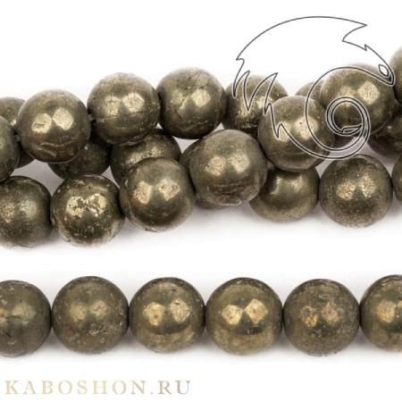Бусины из натурального камня - Пирит 12 мм