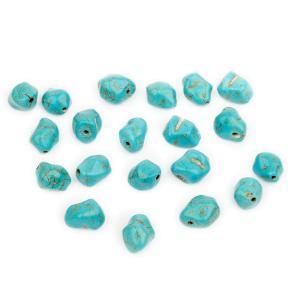 Бирюза (имитация) голубая 11х9 мм