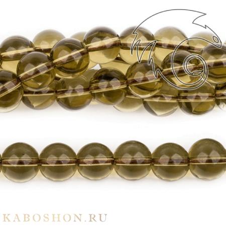 Бусины из натурального камня - Раухтопаз 10х9,5 мм