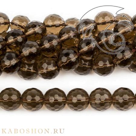 Бусины из натурального камня - Раухтопаз 12 мм