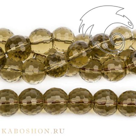 Бусины из натурального камня - Раухтопаз 16 мм