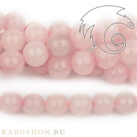 Бусины из натурального камня - Кварц розовый 14 мм