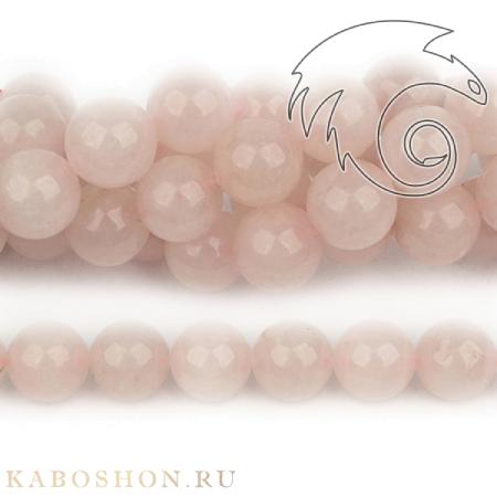 Бусины из натурального камня - Кварц розовый 16 мм