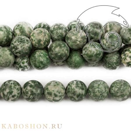 Бусины из натурального камня - Агат моховый 12 мм