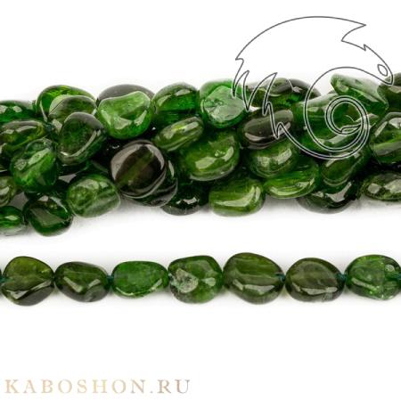 Бусины из натурального камня - Хромдиопсид 7-11 мм