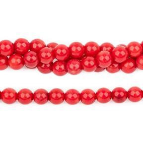 Коралл тонированный красный 5 мм