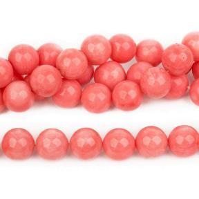 Коралл тонированный розовый 11 мм